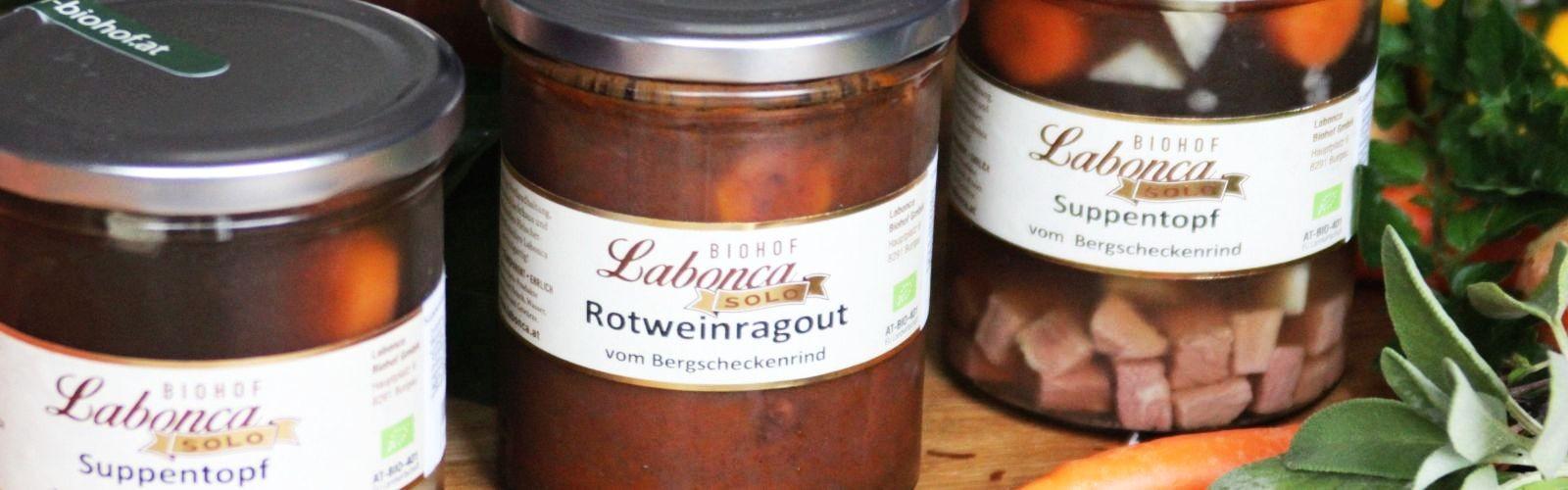 Motivbild der Seite Frischfleisch vom BERGSCHECKENRIND / Herzhaftes im Glas