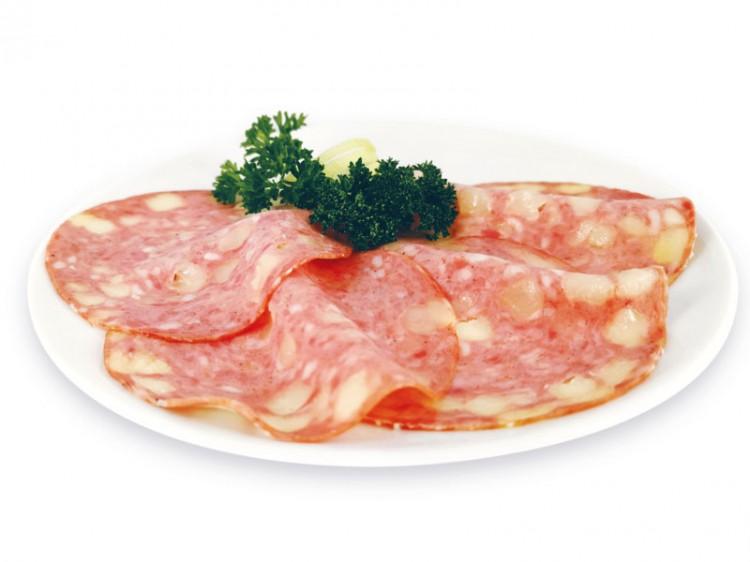 Symbolfoto für Käsewurst geschnitten 100g