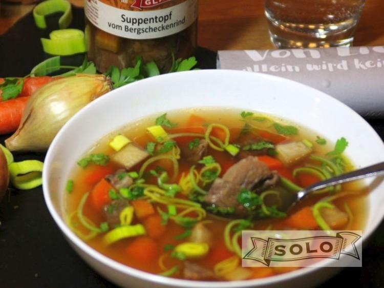 Symbolfoto für Suppentopf von der Bergschecke im Glas