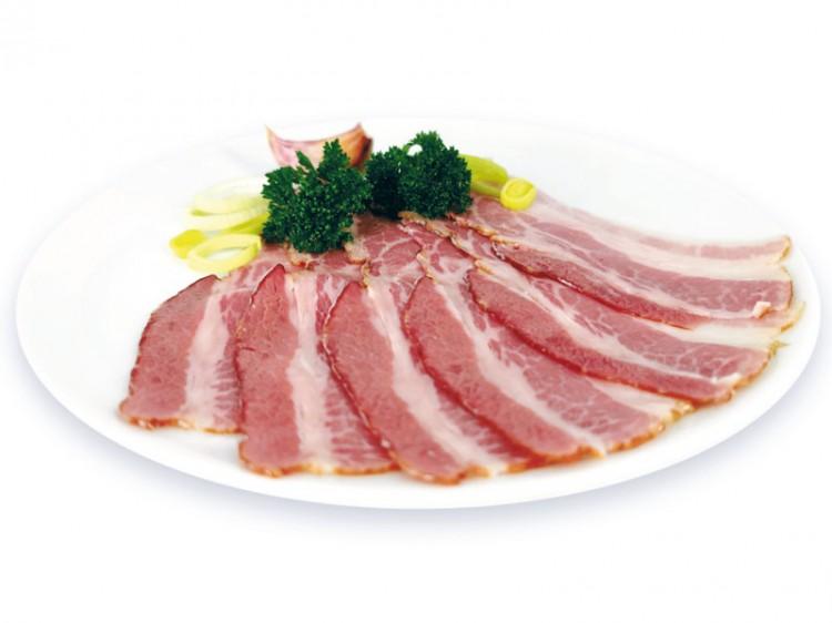 Symbolfoto für Frühstücksspeck geschnitten 100g
